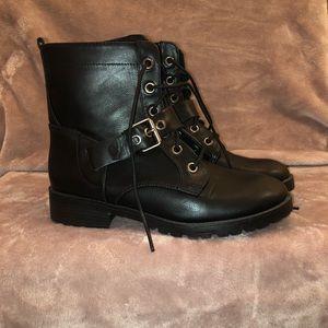 black leather boots girly multi fashion adjustable